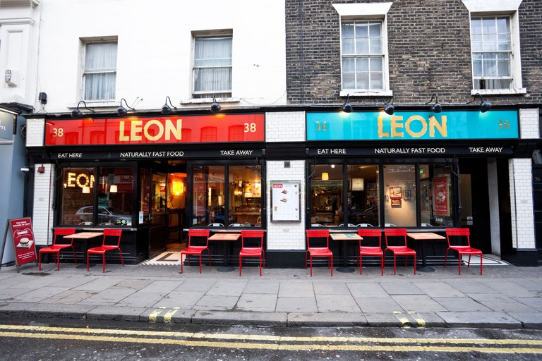 Leon fast food restaurant, Old Compton Street, Soho, London, England, UK