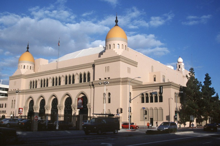 A view of the Shrine Auditorium in Los Angeles.