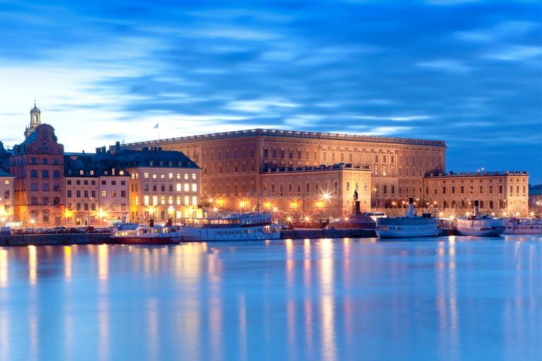 Royal Palace At Dusk, Stockholm, Sweden.