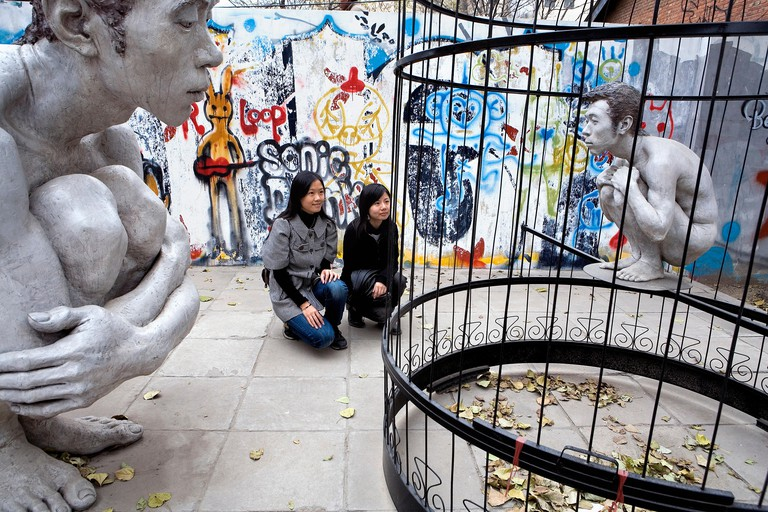You'll find a range of street art in the 798 Art District