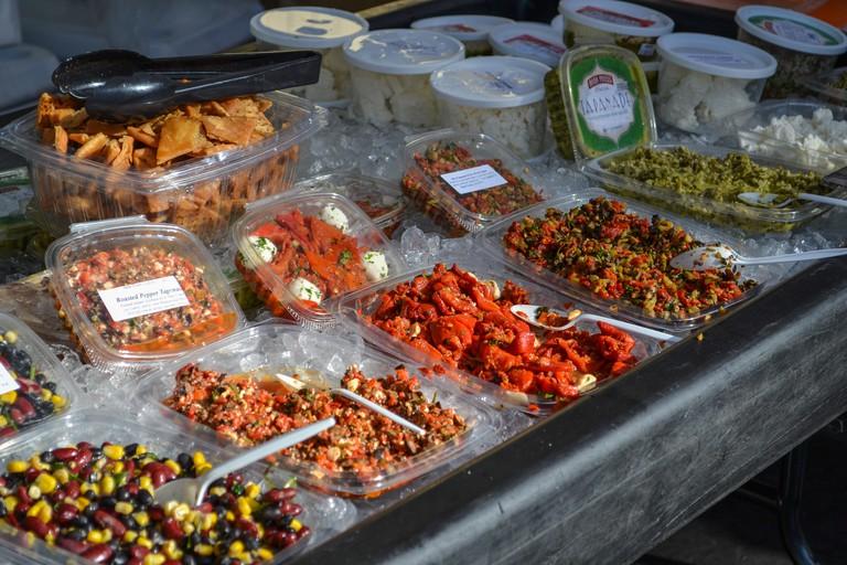 Enjoy the Weekend Farmer's Market in Little Italy, San Diego.
