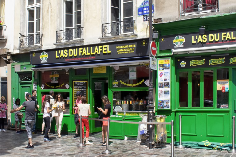 L'As du Fallafel is in Paris's Le Marais neighbourhood