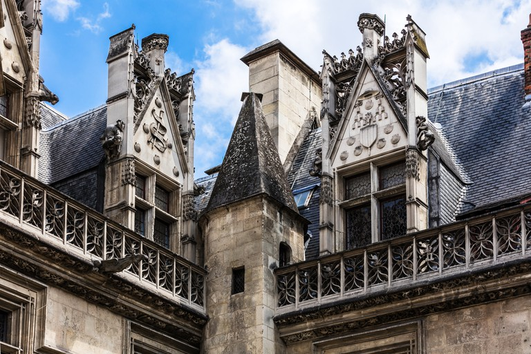 Architectural detail of the Musée de Cluny