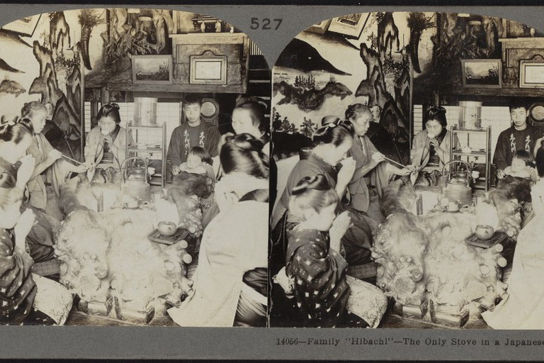 The Japanese have been cooking in an open kitchen since at least 1910, when this photos taken.