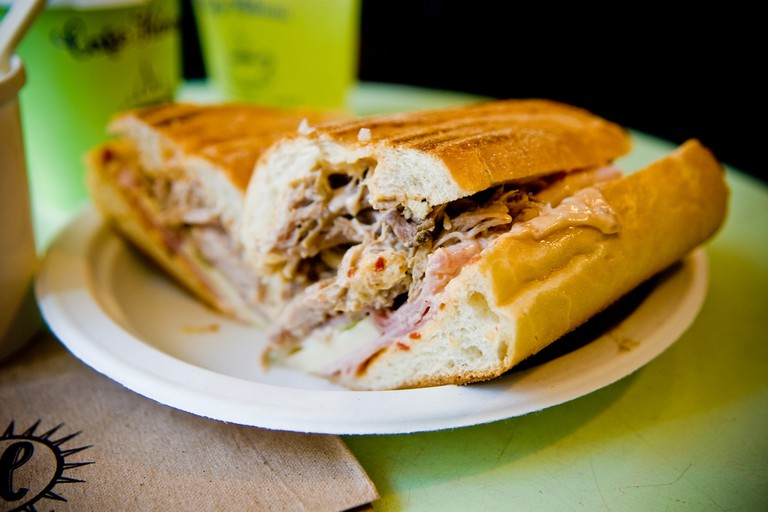 Cuban sandwiches are a popular menu item in Little Havana