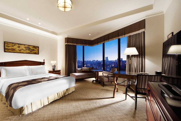 Opt for a superior room with impressive Tokyo skyline views, Hotel Chinzanso Tokyo