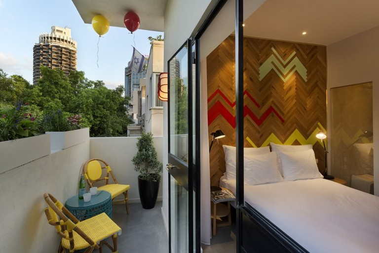 Cucu's rooms are cosy and compact but you can opt for a room with a balcony for that little extra outdoor space, Cucu Hotel, Tel Aviv