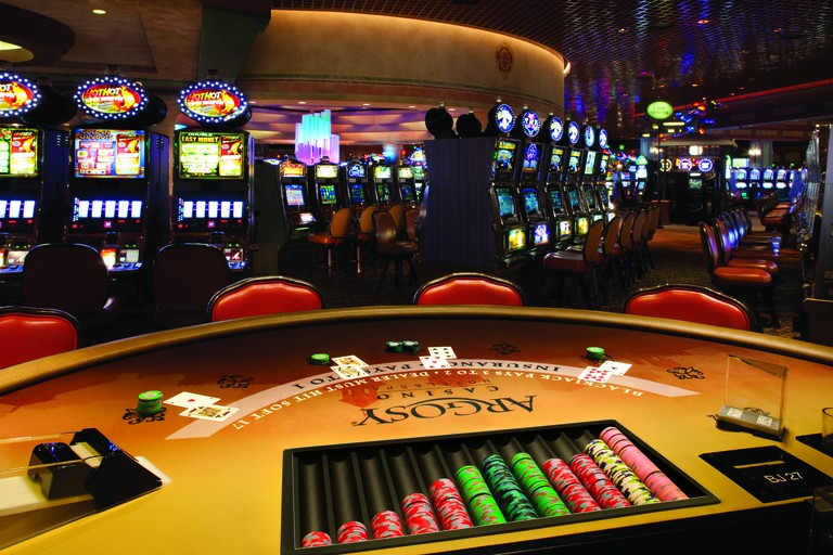 Chance your luck at the Argosy Casino blackjack table