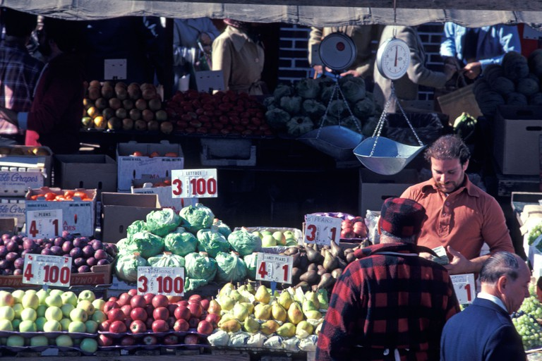 Vegetable Market at Boston Haymarket.