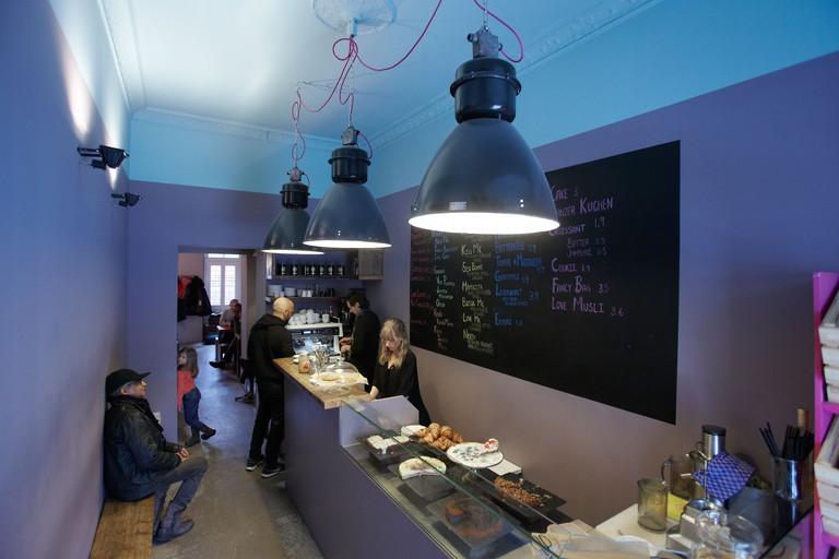 What do you fancy love -in KnesebeckstraBe Cafe, Berlin.