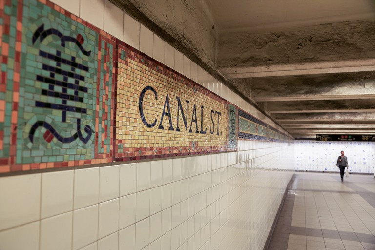 The Canal Street Subway features many connecting hallways