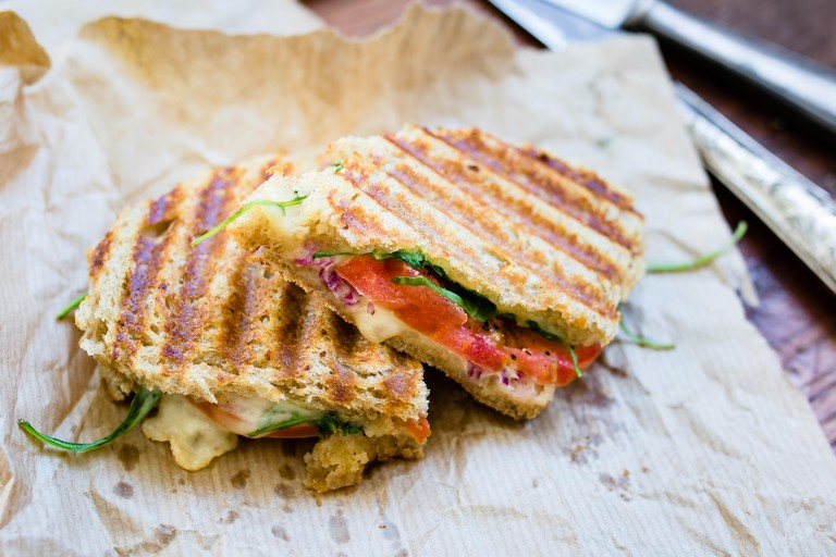 The three-cheese panini at Rosella at the Rand is the perfect comfort food