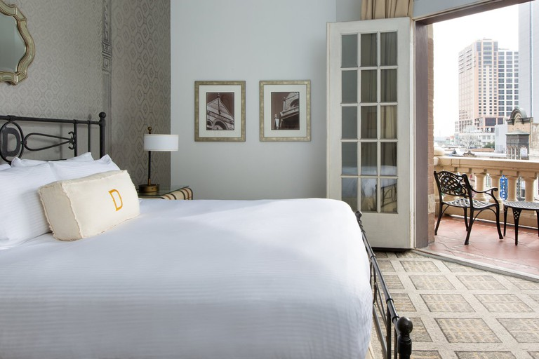 Historic artwork and luxury linens emit a level of elegance in each of the 189 rooms