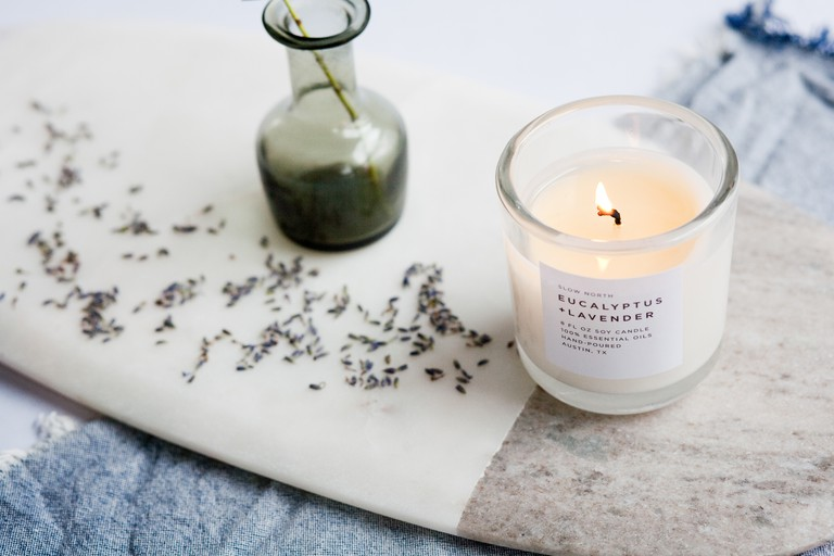 Slow North's candles are made with 100% essential oils