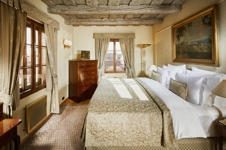 Each room at the Golden Well Hotel offers sweeping views of the city