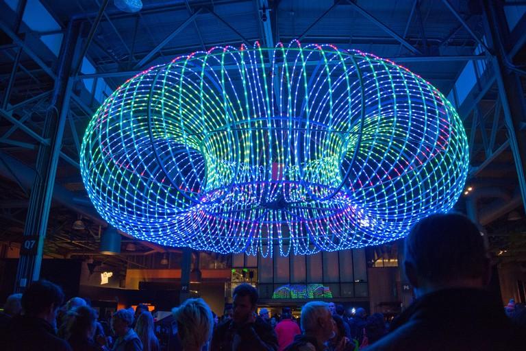 The Tactile Dome lies inside the Exploratorium