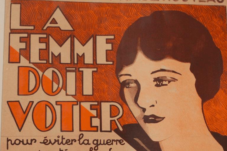 Suffrage for Women, at the Bibliothèque Marguerite Durand