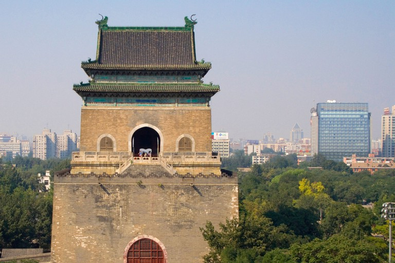 The Bell Tower once dominated the skyline of Beijing