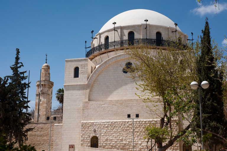 Dome of the Hurva Synagogue in the Jewish Quarter of the Old City of Jerusalem.