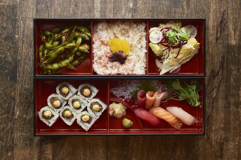 The bento box is done with style at Pubbelly Noodle Bar