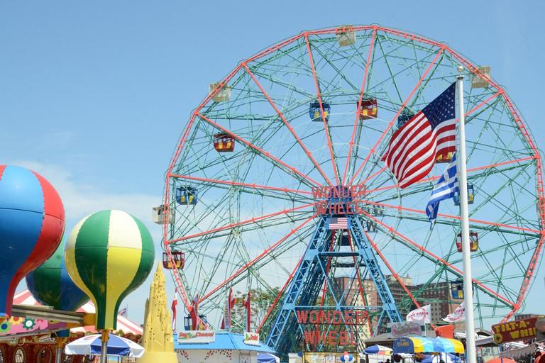 Wonder wheel at Coney Island, Brooklyn, New York
