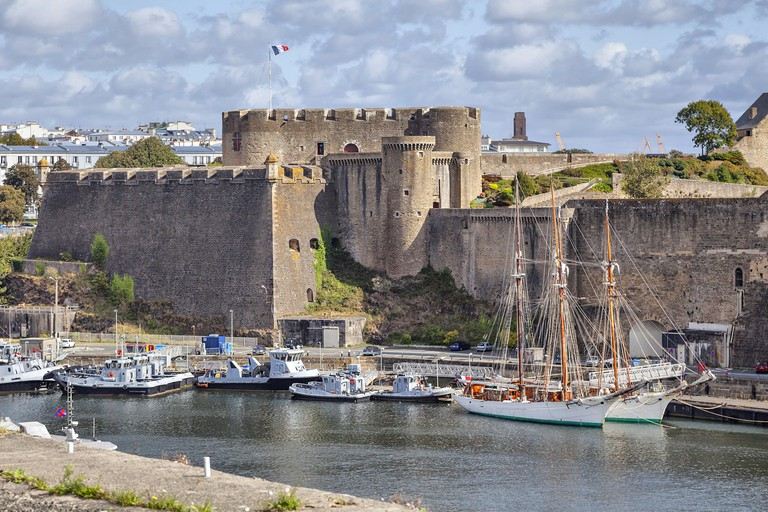 Old castle of Brest, Brittany, France.