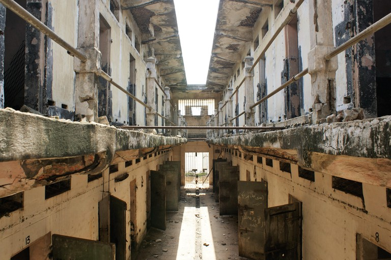 Ghana, Fort Ussher, Slave Fort of Trans Atlantic Slave Trade, Accra in West Africa, old prison part. Prison Tract