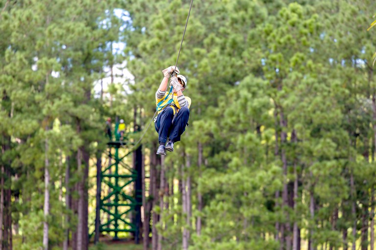 Adrenaline Forest in Rennes has over half a mile of zip lines