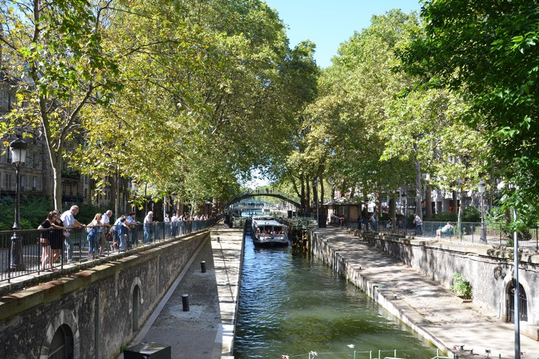 Finish your tour at the Canal Saint-Martin, a popular hipster hang-out