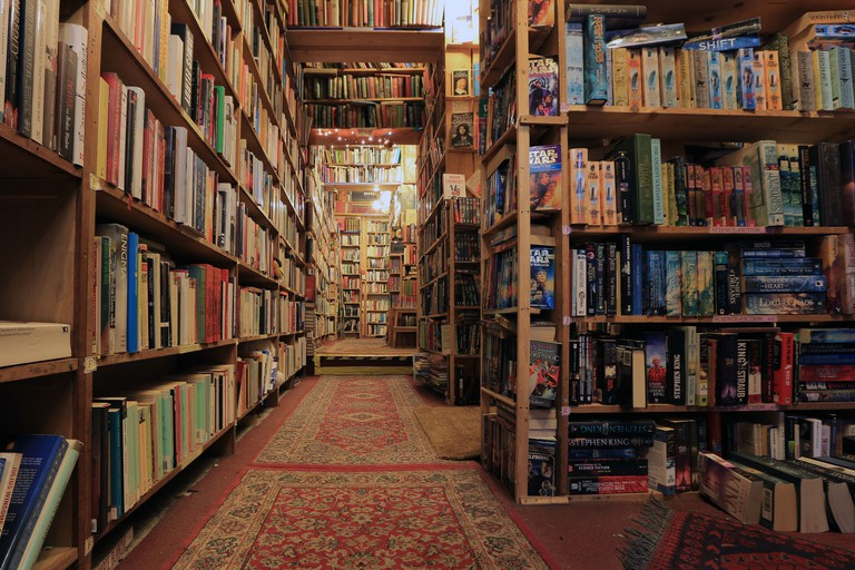 Inside of a bookshop