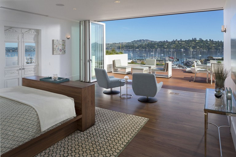 Huge, open sliding doors treat you to spectacular views from your very own room, Casa Madrona Hotel & Spa, San Francisco