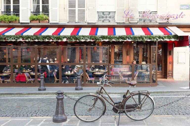 Café in Saint-Germain des Prés, Paris.