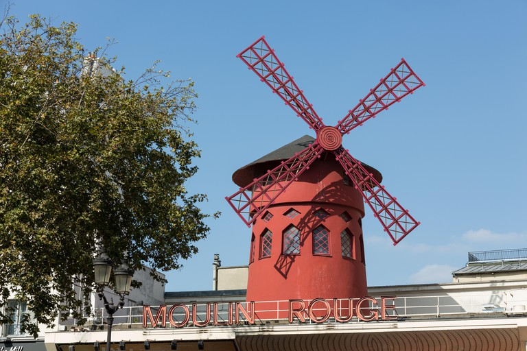 The Moulin Rouge in Paris, France.