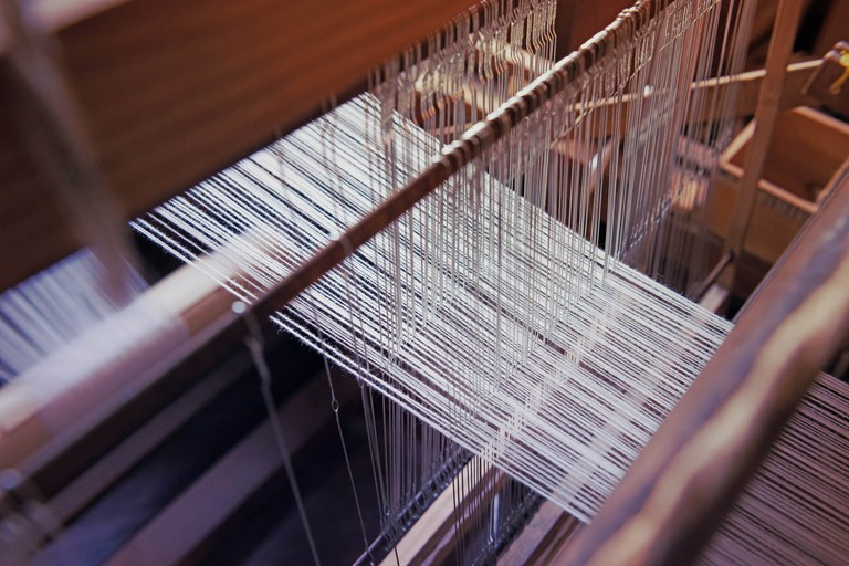 Traditional Japanese weaving