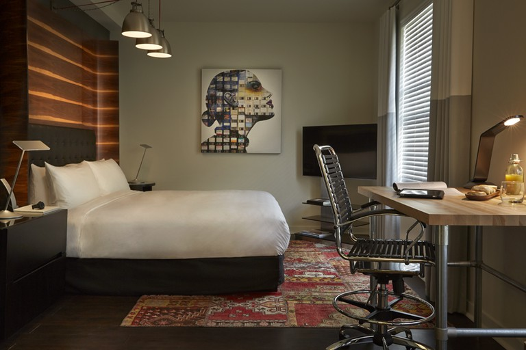 The ambient decor and lighting in the Premier Studio makes for the most comfortable night's sleep, Hotel Zetta, San Francisco