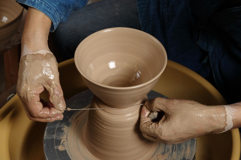 Japanese pottery lesson