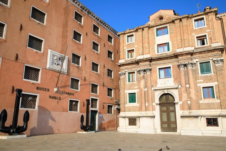 Chiesa di San Biagio Vescovo & Museo Storico Navale in Campo S. Biasio, Venice, Italy.