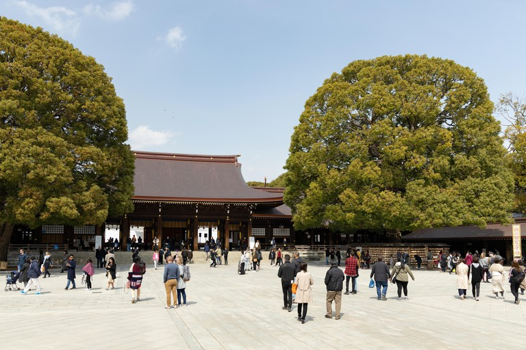 Meiji Jingu shrine in Tokyo, Japan.
