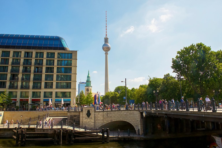 The TV Tower is the tallest building in Berlin