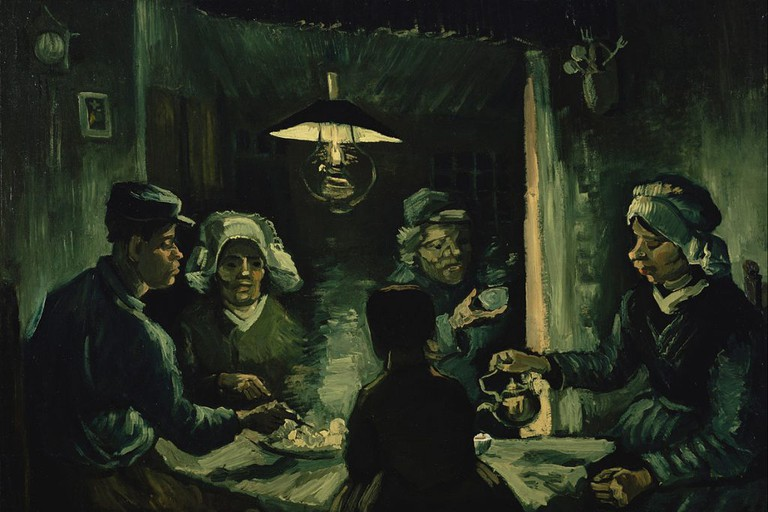 Van Gogh's the Potato Eaters (1885) is owned by the museum