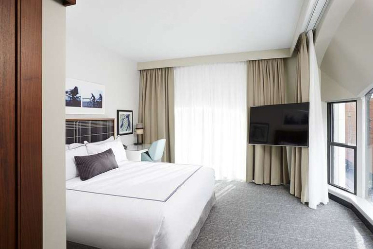 The Godfrey Hotel Boston offers a place to relax in the middle of the Downtown Crossing neighborhood