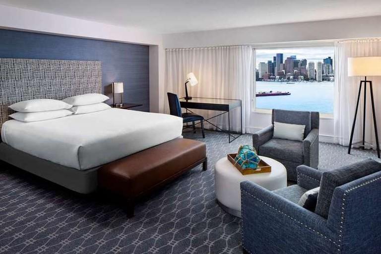 Guest room at Hyatt Regency Boston Harbor