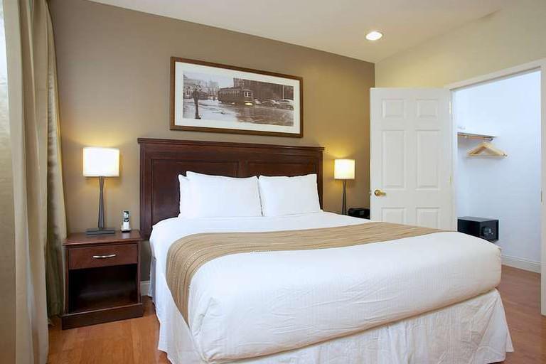 Guest room at Boston Hotel Buckminster