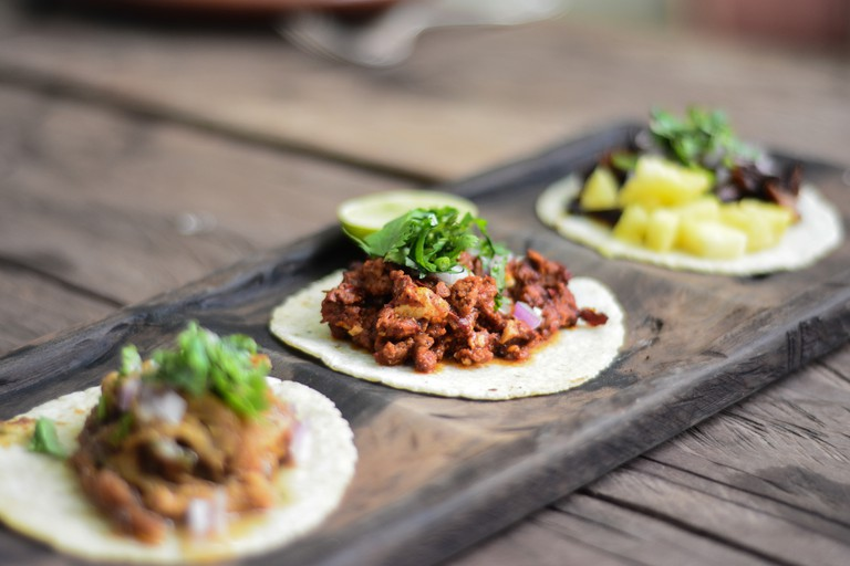 Choose from a variety of nine different tacos at Charly's Vegan Tacos