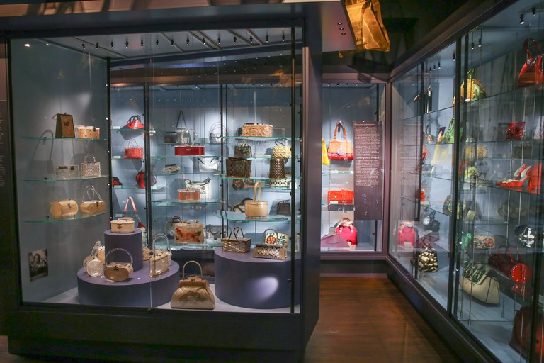 Amsterdam bags purses museum interior Netherlands Holland.