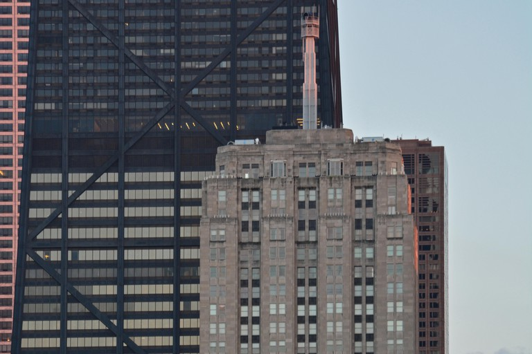The Palmolive Building was one of the first skyscrapers built outside of the Loop