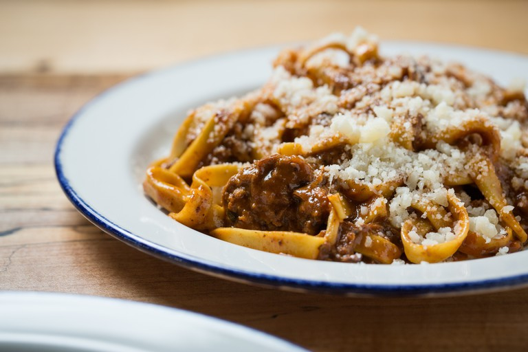 Giant offers a variety of dishes, including house-made pasta