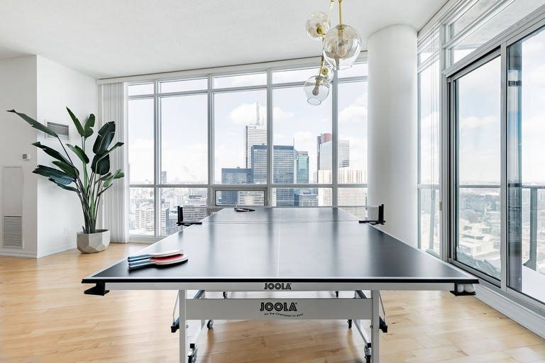 Play Ping Pong with Skyscraper Views in a Hip Loft