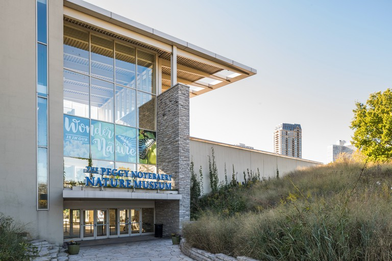 Exterior of Peggy Notebaert Nature Museum in Lincoln Park, Chicago, IL, USA.