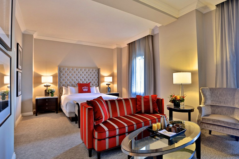 The Omni King Edward Hotel offers spacious, luxurious rooms